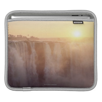 The sun rises behind the spray from Victoria iPad Sleeve