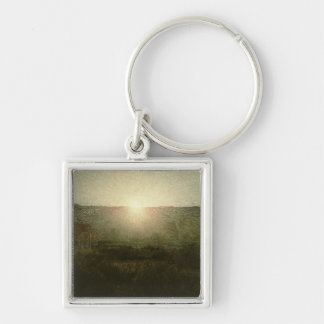 The Sun (Rising Sun) 1904 (oil on canvas) Silver-Colored Square Key Ring