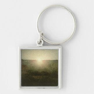 The Sun (Rising Sun) 1904 (oil on canvas) Silver-Colored Square Key Ring