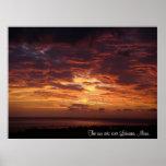 The Sun Sets Over Lahaina, Maui Poster