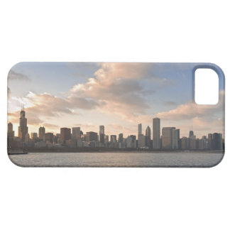The sun sets over Lake Michigan and the Chicago Barely There iPhone 5 Case