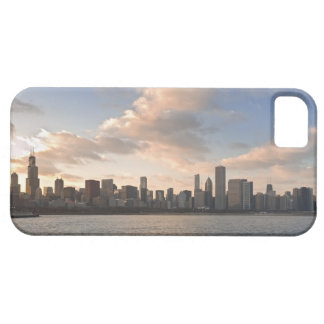 The sun sets over Lake Michigan and the Chicago iPhone 5 Covers