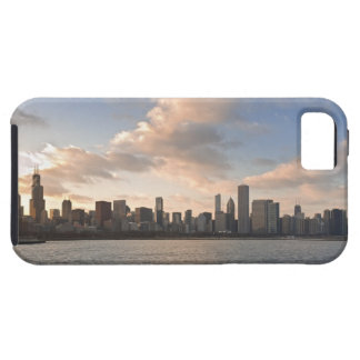 The sun sets over Lake Michigan and the Chicago iPhone 5 Cover