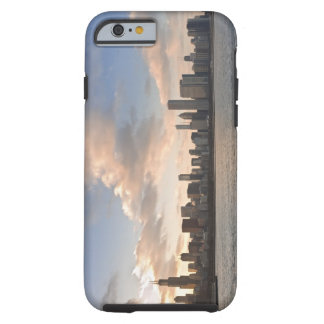 The sun sets over Lake Michigan and the Chicago iPhone 6 Case