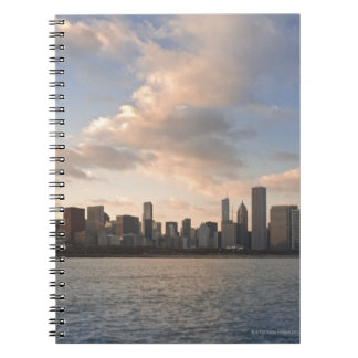 The sun sets over Lake Michigan and the Chicago Notebooks