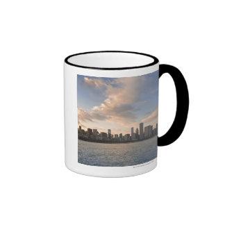 The sun sets over Lake Michigan and the Chicago Ringer Mug