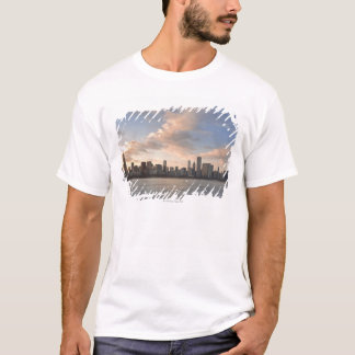 The sun sets over Lake Michigan and the Chicago T-Shirt
