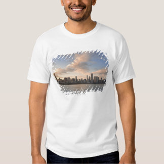 The sun sets over Lake Michigan and the Chicago Tshirt