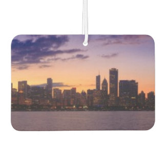 The sun sets over the Chicago skyline Car Air Freshener
