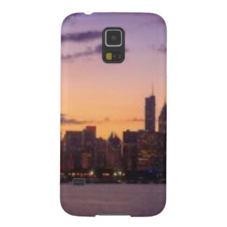 The sun sets over the Chicago skyline Cases For Galaxy S5