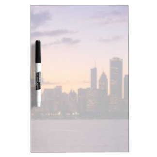 The sun sets over the Chicago skyline Dry Erase Board