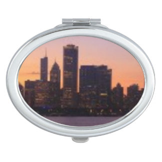 The sun sets over the Chicago skyline Mirror For Makeup