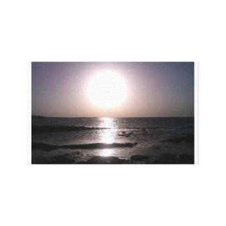 The Sun setting Canvas Print