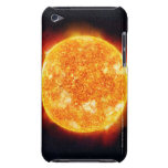 The Sun showing solar flares against a star Barely There iPod Covers