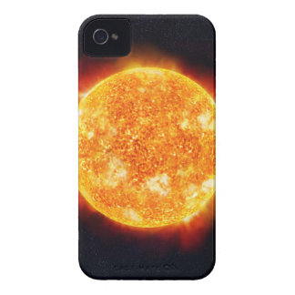 The Sun showing solar flares against a star iPhone 4 Case-Mate Cases