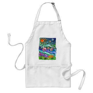 the Sun the moon and the stars 1 Standard Apron