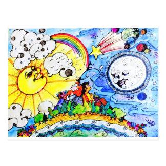 The Sun & The Moon Postcard