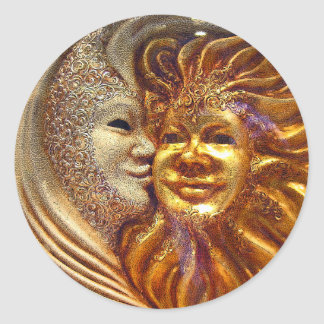 The Sun, The Moon, The Kiss Round Sticker