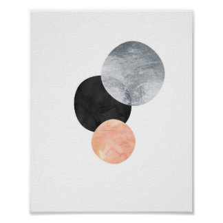 The Sun The Moon The Stars Foil Art Print