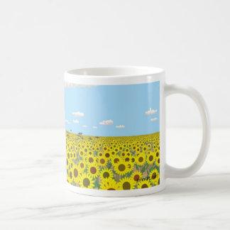 the sunflower field basic white mug