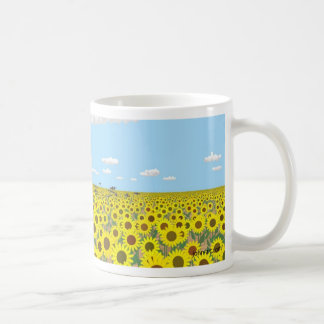 the sunflower field coffee mug