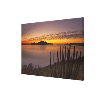 The sunrise over Isla Danzante in the Gulf of 2 Canvas Print