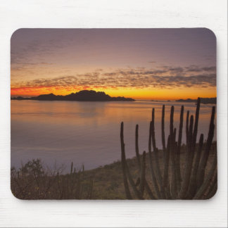 The sunrise over Isla Danzante in the Gulf of 2 Mouse Pad