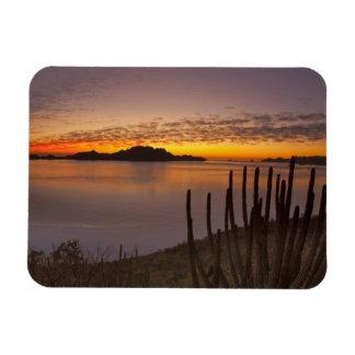 The sunrise over Isla Danzante in the Gulf of 2 Rectangular Photo Magnet