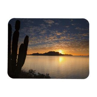 The sunrise over Isla Danzante in the Gulf of Rectangular Photo Magnet