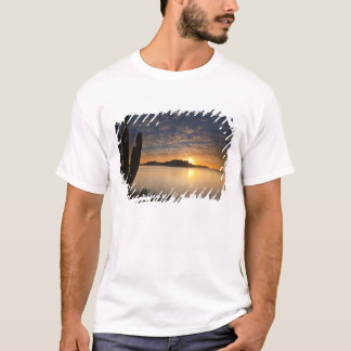 The sunrise over Isla Danzante in the Gulf of T-Shirt