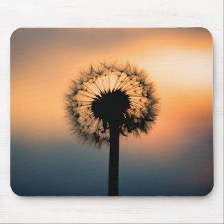 The Sunset and the Fragile Dandelion Mouse Mat