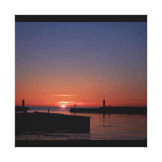 The sunset canvas print