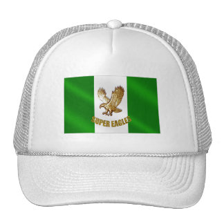 The Super Eagles in Gold on a Nigerian flag Cap
