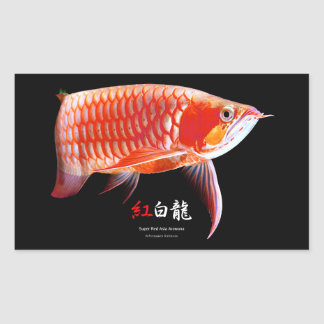 The superior product of Asian Arowana Rectangular Sticker