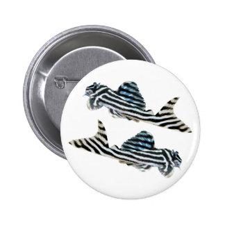 "The superior product ""of Imperial Zebra Pleco"" 6 Cm Round Badge"