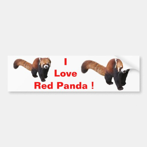 "The superior product ""of Red Panda"" Bumper Sticker"