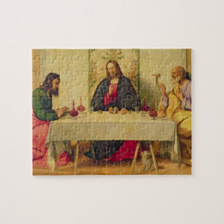 The Supper at Emmaus, 1520 (oil on canvas) Jigsaw Puzzle