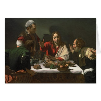 The Supper at Emmaus, 1601 2 Greeting Card