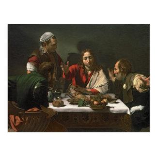 The Supper at Emmaus, 1601 2 Postcard