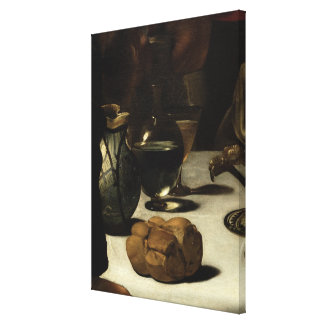 The Supper at Emmaus, 1601 Canvas Print