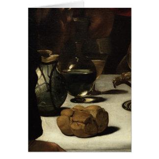The Supper at Emmaus, 1601 Card