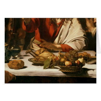 The Supper at Emmaus, 1601 Greeting Card