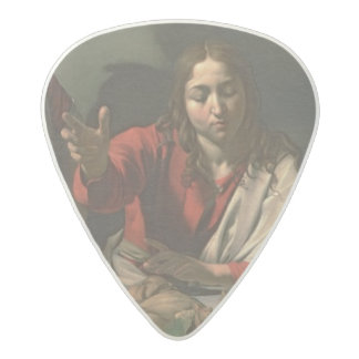 The Supper at Emmaus, 1601 (oil and tempera) Acetal Guitar Pick