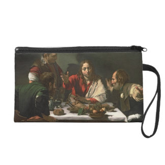 The Supper at Emmaus, 1601 (oil and tempera) Wristlet Purse