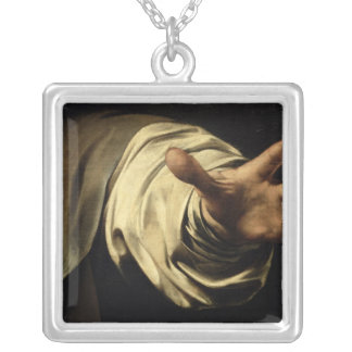 The Supper at Emmaus, 1601 Silver Plated Necklace