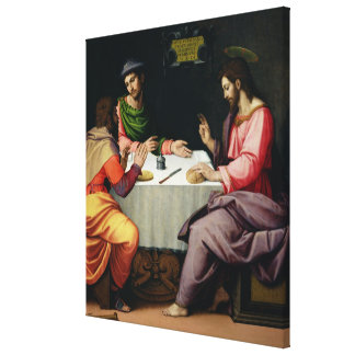 The Supper at Emmaus, c.1520 Canvas Print