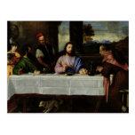 The Supper at Emmaus, c.1535 Postcard