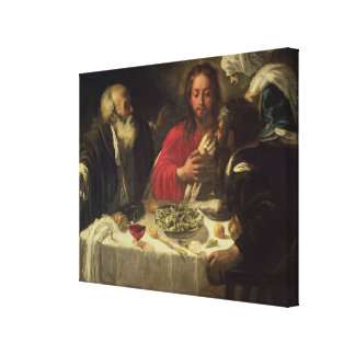 The Supper at Emmaus, c.1614-21 Canvas Print