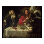 The Supper at Emmaus, c.1614-21 Poster