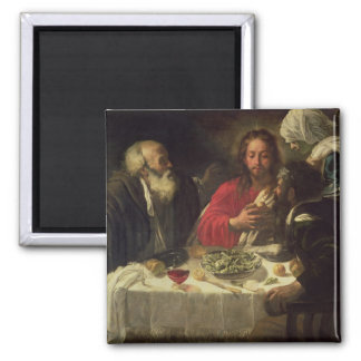 The Supper at Emmaus, c.1614-21 Square Magnet